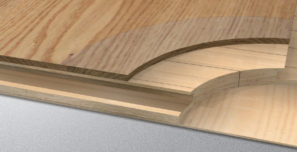 Wzory warstwy wierzchniej w podłogach Baltic Wood