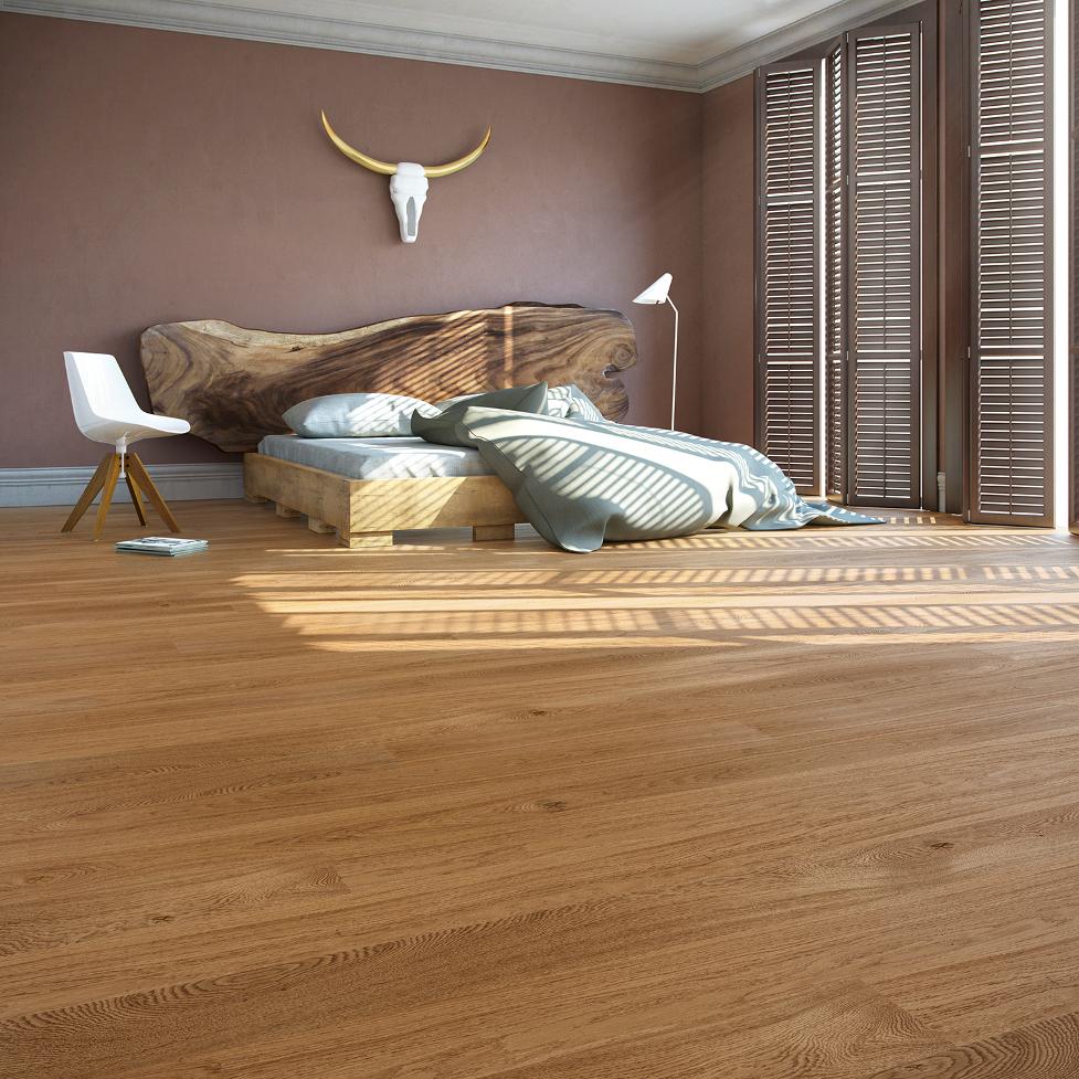 Podłoga drewniana dębowa lakierowana Five 4HIM zkolekcji Jeans