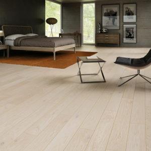 Podłoga drewniana dębowa lakier mat szczotkowany