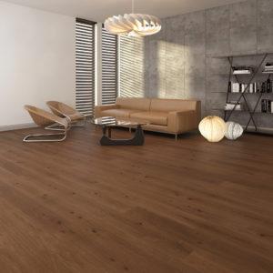 Podłoga drewniana dębowa szczotkowana