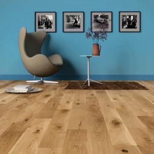 Podłoga drewniana dębowa lakierowana