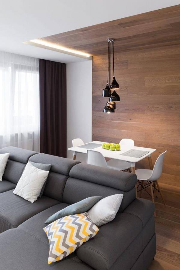 Deski drewniane wrzeszowskim mieszkaniu