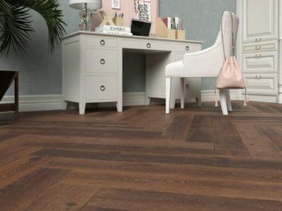 Podłoga drewniana jodełka