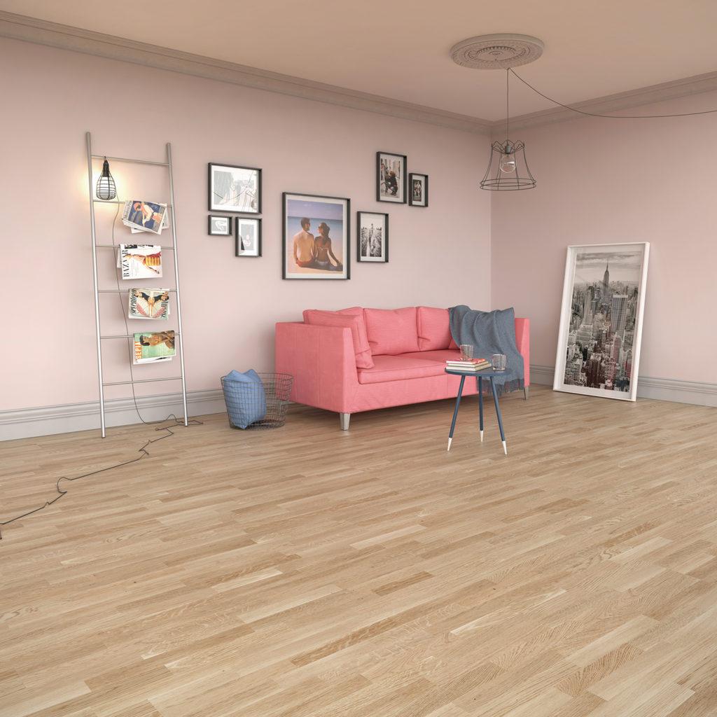 Podłoga domałego mieszkania