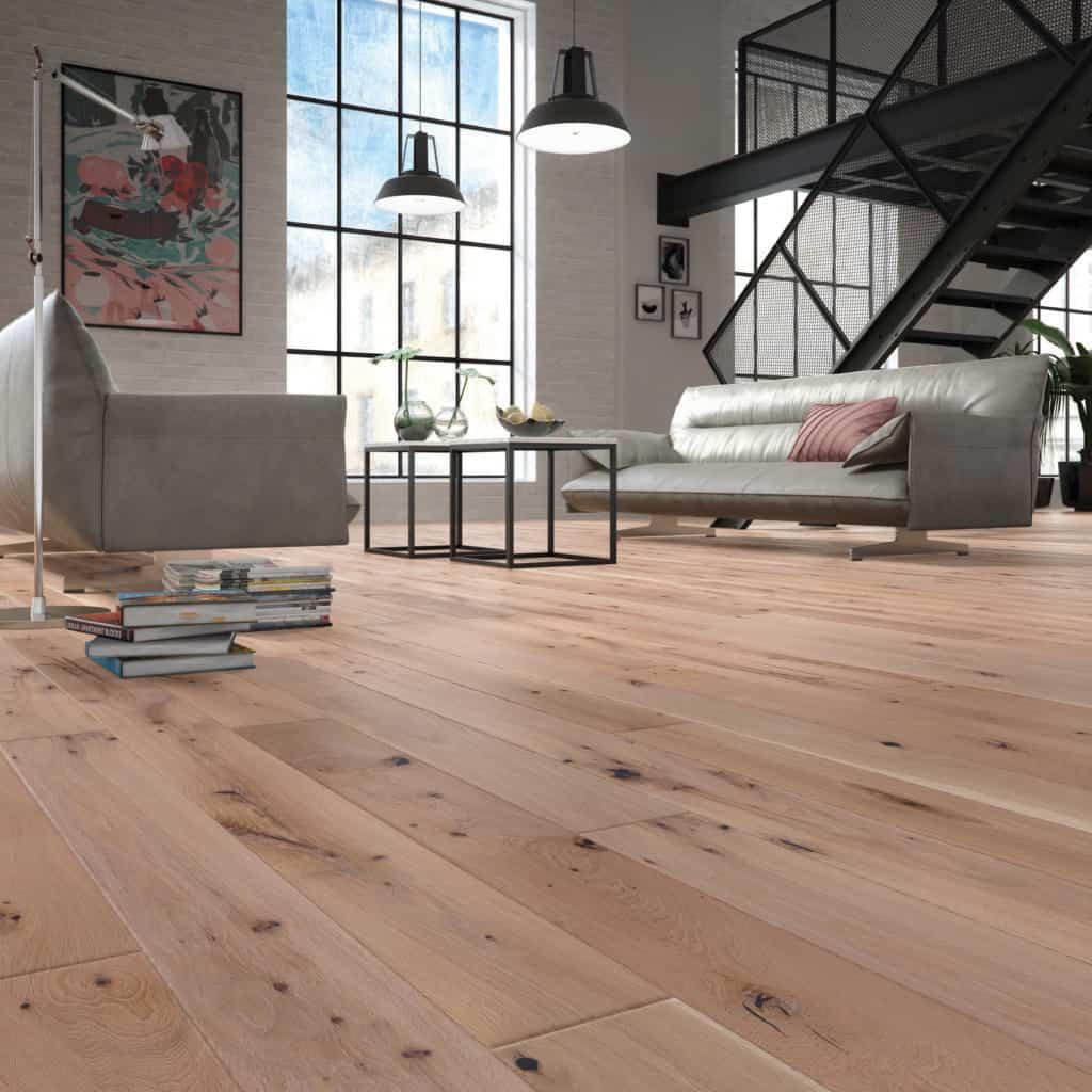 Deski podłogowe zręcznie wykonanym fazowaniem - podłoga Królewski Pierścień 1 R Baltic Wood