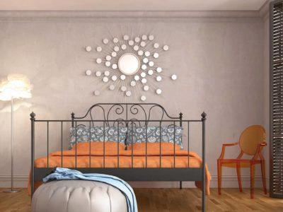 Ściany wsypialni wdelikatnych kolorach - modna aranżacja byBaltic Wood