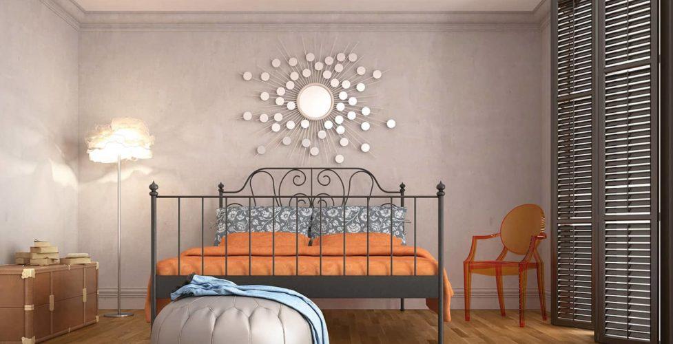 Ściany w sypialni w delikatnych kolorach - modna aranżacja by Baltic Wood