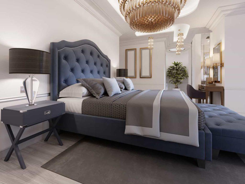 Sypialnia wstylu paryskim