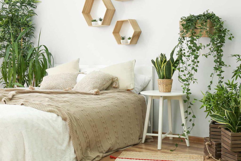 Sypialnia wstylu eko - dobór materiałów