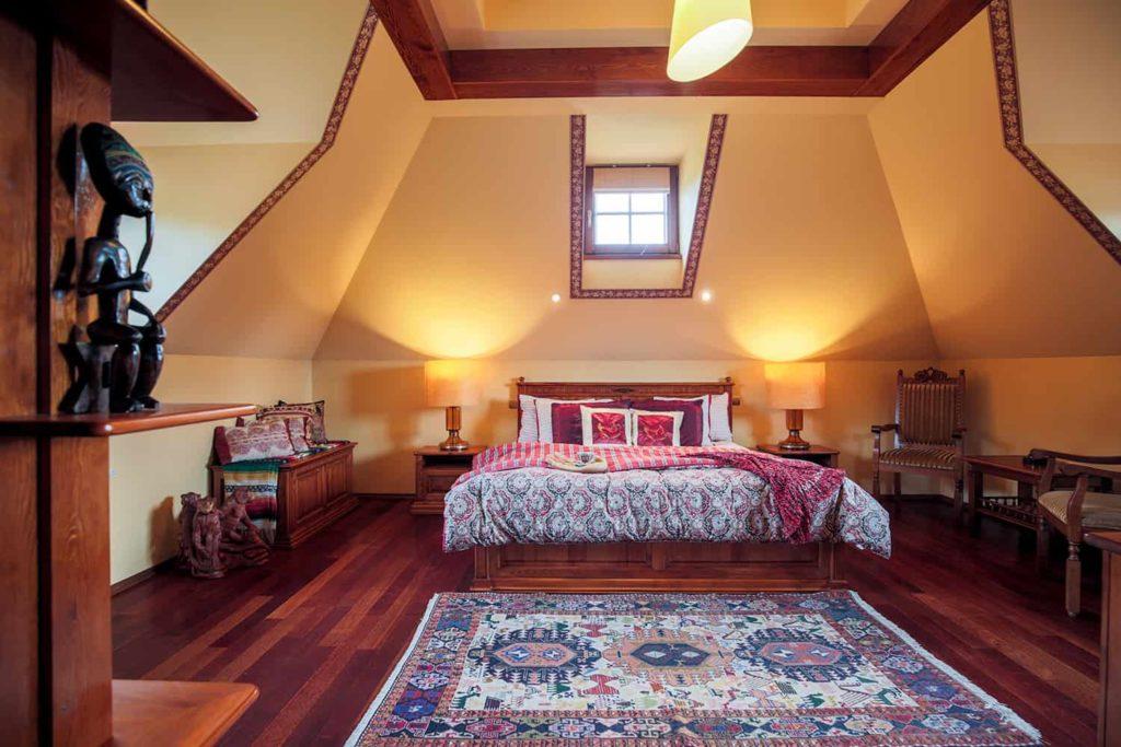 Sypialnia wstylu kolonialnym