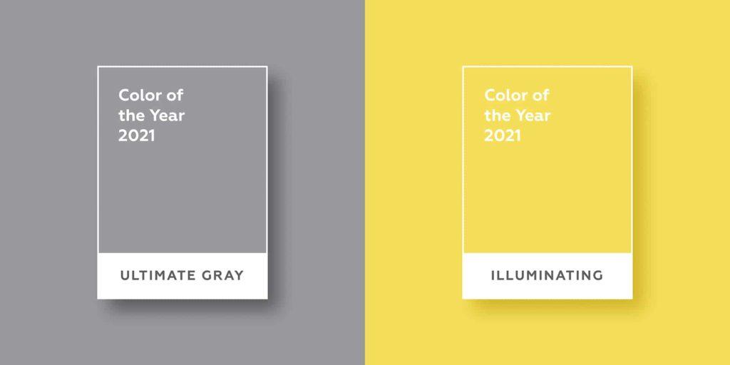 Kolory roku Pantone 2021: Ultimate Grey iIlluminating